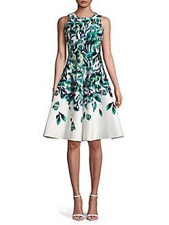 007f97cbc1 QUICK VIEW. Gabby Skye. Floral Spread Fit- -Flare Dress