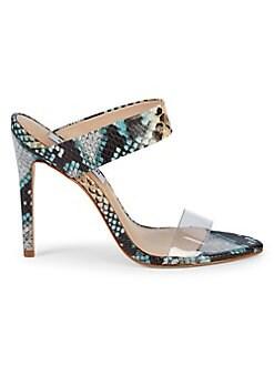 4fd3c1754498 Amaya Snakeskin Heeled Sandals. Steve Madden. Amaya Snakeskin Heeled Sandals