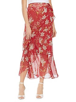 685d15da8f0 QUICK VIEW. Vince Camuto. Oasis Bloom Wildflower Ruffled Faux Wrap Skirt
