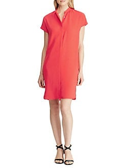 5b6a465c2f Product image. QUICK VIEW. Lauren Ralph Lauren. Band-Collar Crepe Dress