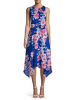 482113593d0 QUICK VIEW. Eliza J. Tied Floral Handkerchief Dress