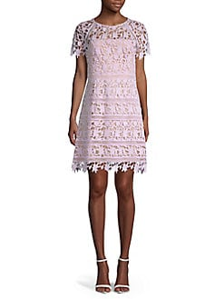 6584a99f5c8 QUICK VIEW. Eliza J. Short Sleeve Lace Overlay Dress