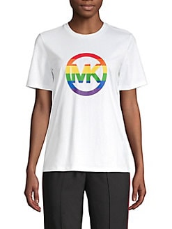 6133a67f QUICK VIEW. MICHAEL Michael Kors. Rainbow Logo Graphic Tee
