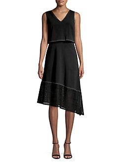 104d97f376b Asymmetrical A-Line Dress BLACK. QUICK VIEW. Product image