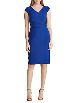 bf2ce9c5418 Product image. QUICK VIEW. Lauren Ralph Lauren. Ruched Jersey Dress