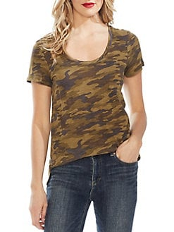 d55ac5a8 QUICK VIEW. Vince Camuto. Camo Printed Scoopneck Tee
