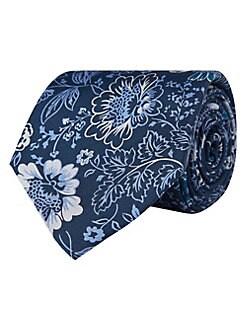 6d2350dfc877 QUICK VIEW. Lauren Ralph Lauren. Indigo Floral Silk Tie