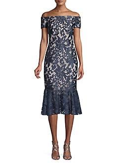 36856ba430f QUICK VIEW. Calvin Klein. Off-the-Shoulder Floral Lace Dress