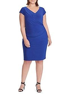 518029c32ca Product image. QUICK VIEW. Lauren Ralph Lauren. Plus Ruched Jersey Sheath  Dress