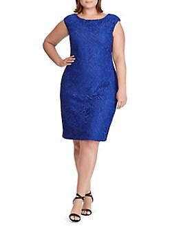 16a2fac214 QUICK VIEW. Lauren Ralph Lauren. Plus Slim-Fit Lace Sheath Dress