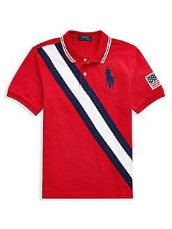 3553b91fe QUICK VIEW. Ralph Lauren Childrenswear. Boy's Big Pony Mesh Polo Shirt