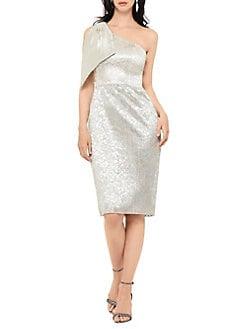 c65dcb7ad49b QUICK VIEW. Betsy   Adam. Metallic One-Shoulder Sheath Dress