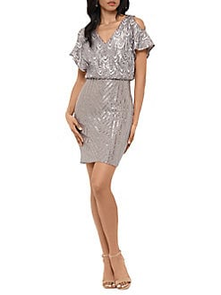 d15a81be52a4 QUICK VIEW. Betsy   Adam. Embellished Blouson Dress