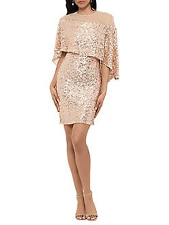 6f46d6aeb6 QUICK VIEW. Betsy   Adam. Sequin Overlay Dress