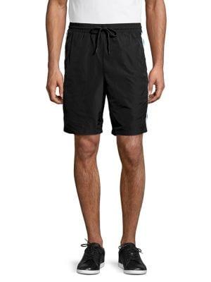 Image of Athleisure Logo Trim Shorts