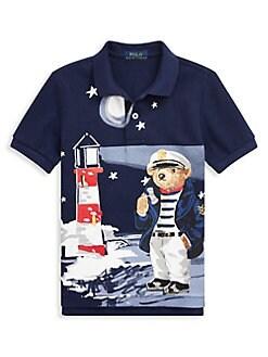 8490a91bb61 QUICK VIEW. Ralph Lauren Childrenswear. Little Boy s Graphic Cotton Mesh  Polo