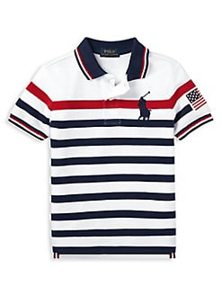 0780fda3 Product image. QUICK VIEW. Ralph Lauren Childrenswear. Little Boy's Striped  Mesh Cotton Polo