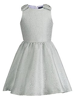 4967ded8e9dd Little Girl s   Girl s Cheetah-Print Brocade Dress AQUA. QUICK VIEW.  Product image