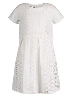 4730233c332f Little Girl s Summer Lace Two-Piece Dress WHITE. QUICK VIEW. Product image