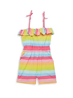 987602fe3cf3 Little Girl s Ruffle Romper RAINBOW. QUICK VIEW. Product image