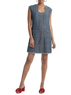 a66ccb0f7a5 QUICK VIEW. Trina Turk. Crosshatch Chambray Wikiki Dress