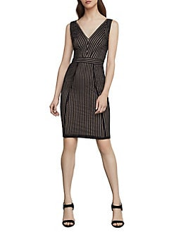 6ba44976826 QUICK VIEW. BCBGMAXAZRIA. Striped Lace Sheath Dress