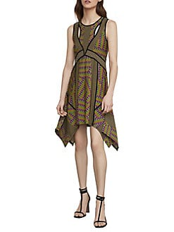 5396ac1aa0d QUICK VIEW. BCBGMAXAZRIA. Mixed Print Handkerchief Dress