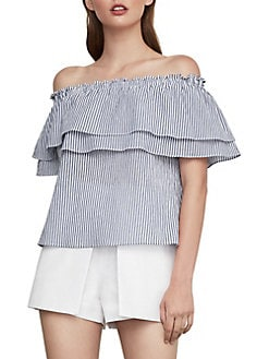 2a4e2a54846 QUICK VIEW. BCBGMAXAZRIA. Off-The-Shoulder Striped Top