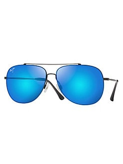 4a23d9f98e9a eligible for charity day discount · Cinder Cone 58MM Aviator Sunglasses BLUE.  QUICK VIEW. Product image