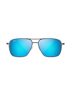 52bbcefdf30b eligible for charity day discount · Beaches 57MM Aviator Sunglasses BLUE  GREY. QUICK VIEW. Product image