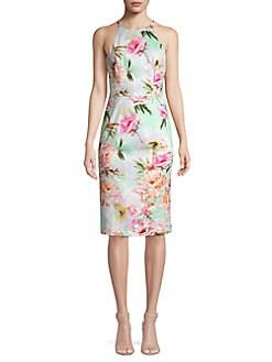 6e6be30e72 QUICK VIEW. Black Halo. Sea Montego Floral Sheath Dress
