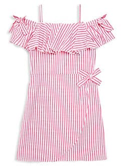 ac993b7eef6 Product image. QUICK VIEW. Bebe. Girl s Striped Cotton Dress