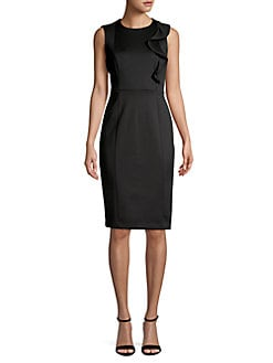 14a9de09375e QUICK VIEW. Calvin Klein. Ruffle-Accent Sheath Dress