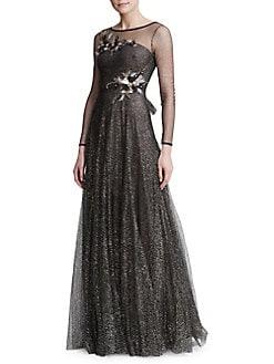05f02731 QUICK VIEW. Marchesa Notte. Floral Illusion Gown