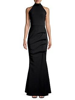 95fc61db20 Slavinka Embellished Halter Mermaid Gown BLACK. QUICK VIEW. Product image