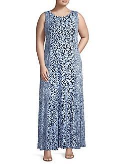 4c263888d6f QUICK VIEW. MICHAEL Michael Kors. Plus Ikat Dot Seamed Maxi Dress