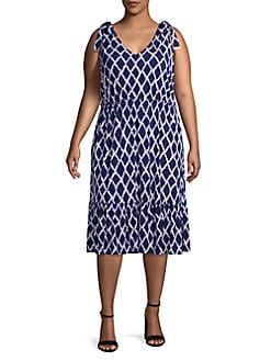 629801cf3e QUICK VIEW. Michael Kors. Plus Printed Midi Dress