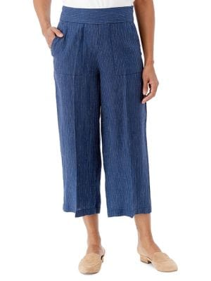 Image of Santorini Anna Striped Linen Pant