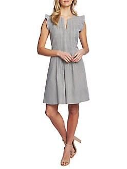 26b1ae91621 QUICK VIEW. Cece. Desert Floral Striped Seersucker Dress