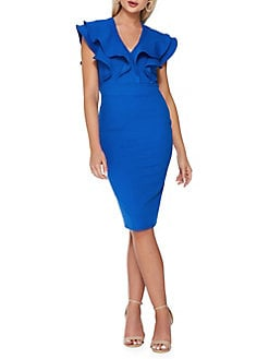 7f526dd401c QUICK VIEW. QUIZ. Ruffle Trim Sheath Dress