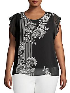 b01a29f1e81c5b Plus Size Womens Shirts & Tops | Lord + Taylor