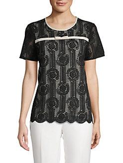 9dea5f906 QUICK VIEW. Karl Lagerfeld Paris. Short Sleeve Lace Top