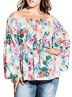 e4ea1f18fbff4 QUICK VIEW. City Chic. Plus Off-The-Shoulder Blooms Top