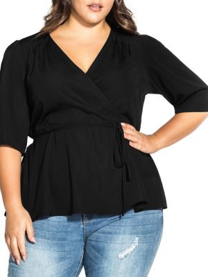 Image of Plus Wrap Me Up Top