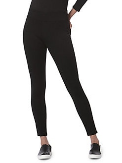 2a54e42a72c98 Anna Mid-Rise Skinny Ponte Pants BLACK. QUICK VIEW. Product image