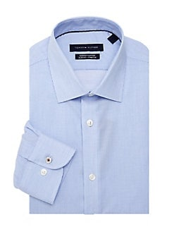 92e475f8 Product image. QUICK VIEW. Tommy Hilfiger. Slim-Fit Pinstripe Dress Shirt