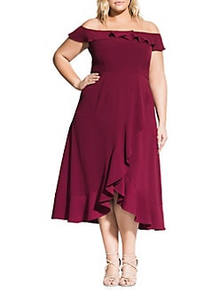 ed2ec195c51f Women - Extended Sizes - Plus Size - Dresses & Jumpsuits - Cocktail ...