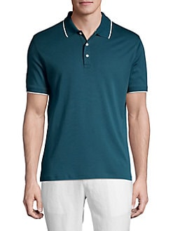 1572bf181abc QUICK VIEW. Black Brown 1826. Trimmed Polo Shirt