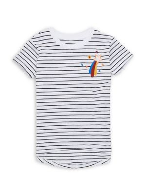 Image of Girl's Striped Crewneck Tee