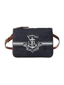 22e76b45156 Product image. QUICK VIEW. Lauren Ralph Lauren. Denim Anchor Belt Bag